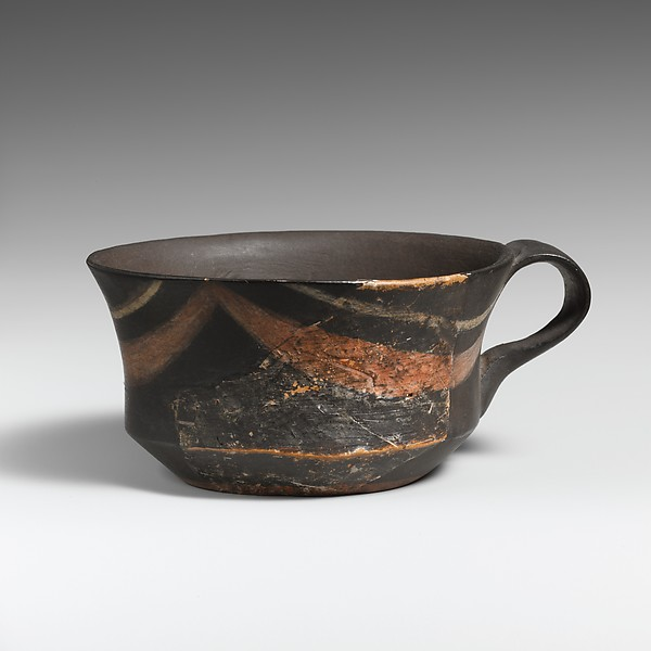 Terracotta carinated cup, Terracotta, Minoan