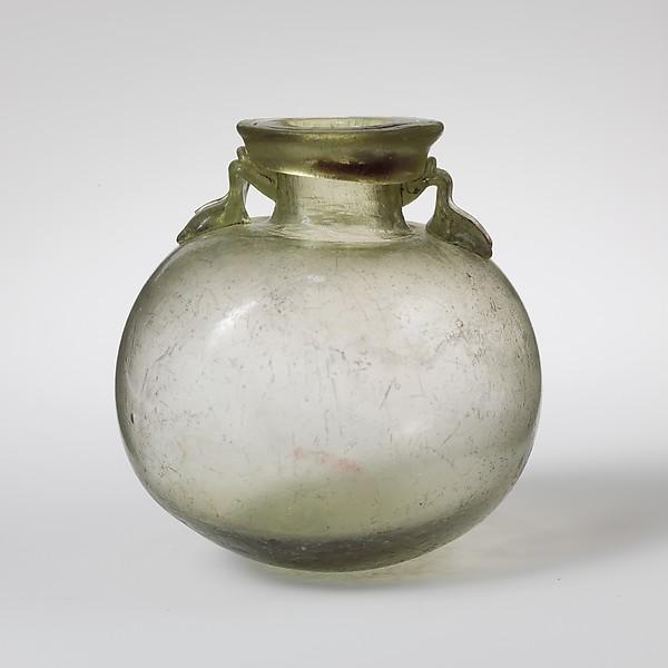 Glass aryballos (oil bottle), Glass, Roman, Eastern Mediterranean