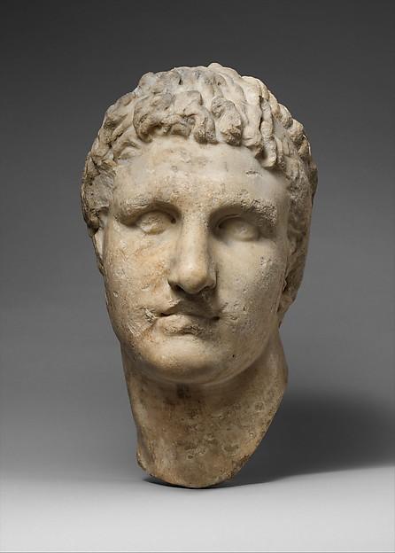 Marble head of a Hellenistic ruler, Marble, Roman