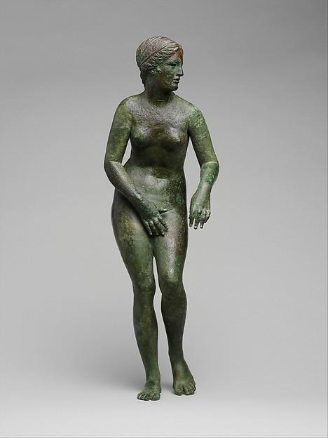 Bronze statuette of Aphrodite, Bronze, Greek