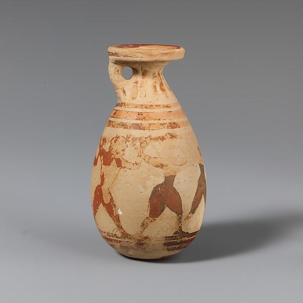 Terracotta alabastron (perfume vase), Terracotta, Greek, Corinthian