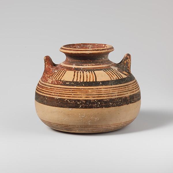 Terracotta alabastron (jar), Terracotta, Mycenaean