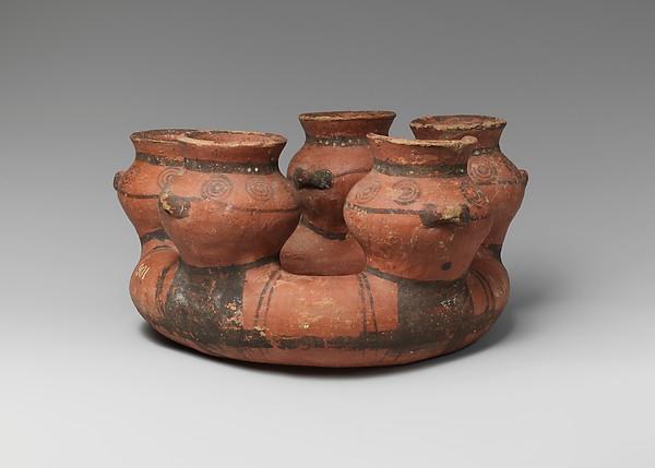 Terracotta kernos (vase for multiple offerings), Terracotta, Cypriot