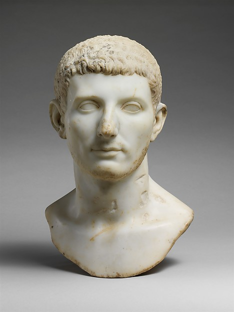 Marble portrait bust of a man, Marble, Roman