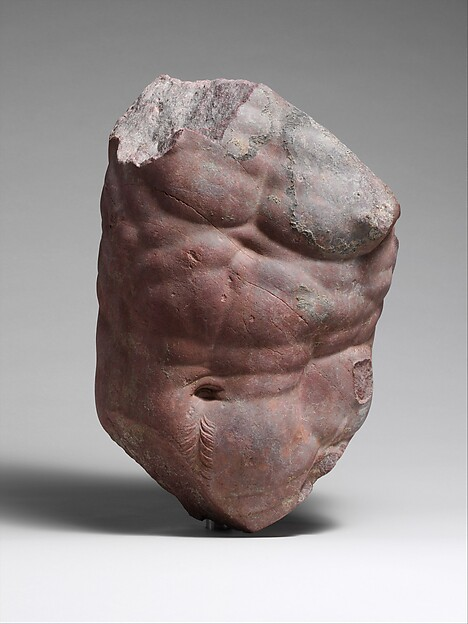 Rosso antico torso of a centaur, Marble, Rosso antico, Roman