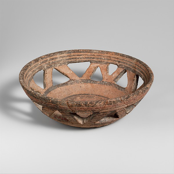 Terracotta basket bowl, Terracotta, Cypriot