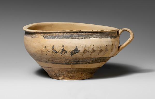 Terracotta one-handled cup, Terracotta, Minoan