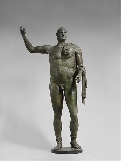 Bronze statue of the emperor Trebonianus Gallus, Bronze, Roman
