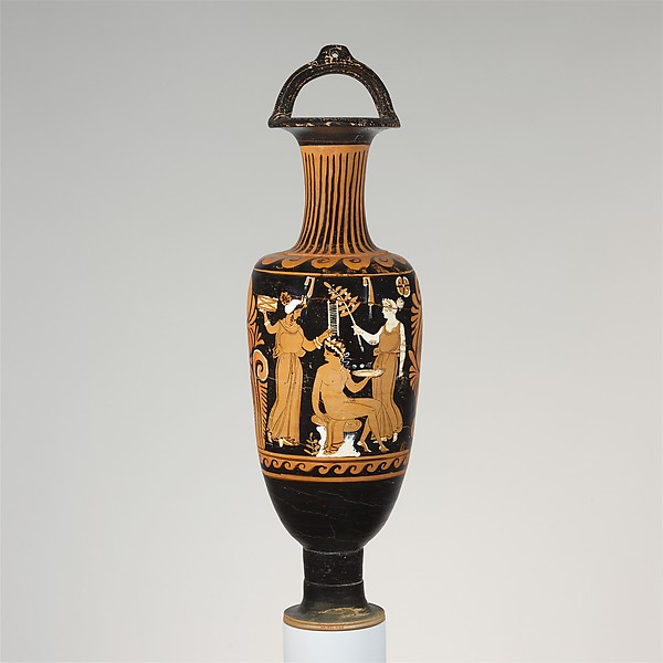 Terracotta bail-amphora (jar), Attributed to the APZ Painter, Terracotta, Greek, South Italian, Campanian