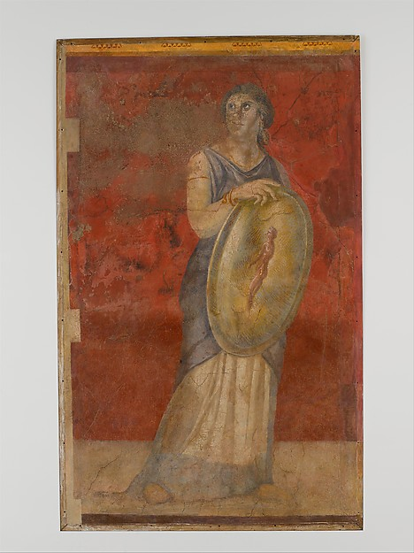 Wall painting from Room H of the Villa of P. Fannius Synistor at Boscoreale, Fresco, Roman