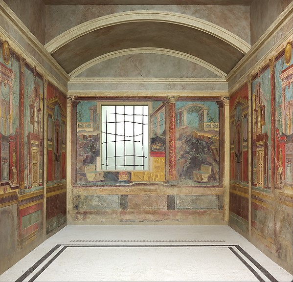 Cubiculum  bedroom  from the Villa of P  Fannius Synistor at Boscoreale   Fresco. Cubiculum  bedroom  from the Villa of P  Fannius Synistor at