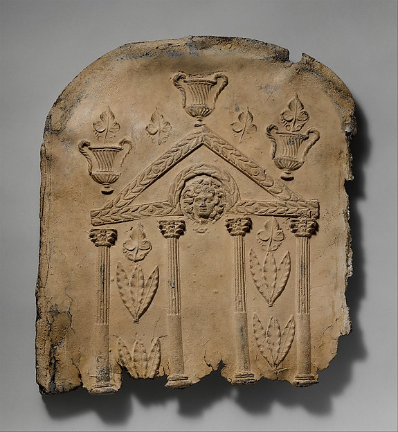 Lid and end panels of a lead sarcophagus, Lead, Roman