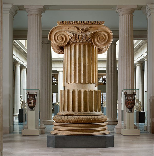 Marble column from the Temple of Artemis at Sardis, Marble, Greek