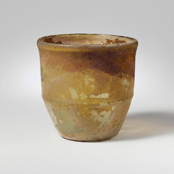 Glass cup, Glass, Roman