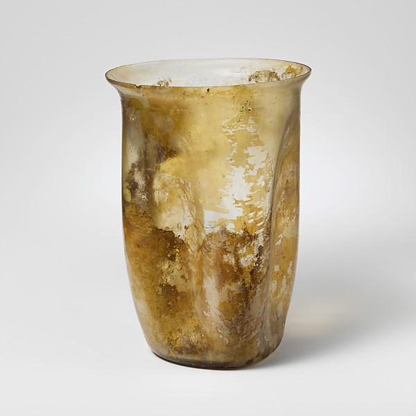 Glass beaker, Glass, Roman