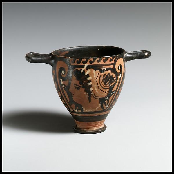 Skyphos, Terracotta, Greek, South Italian, Apulian