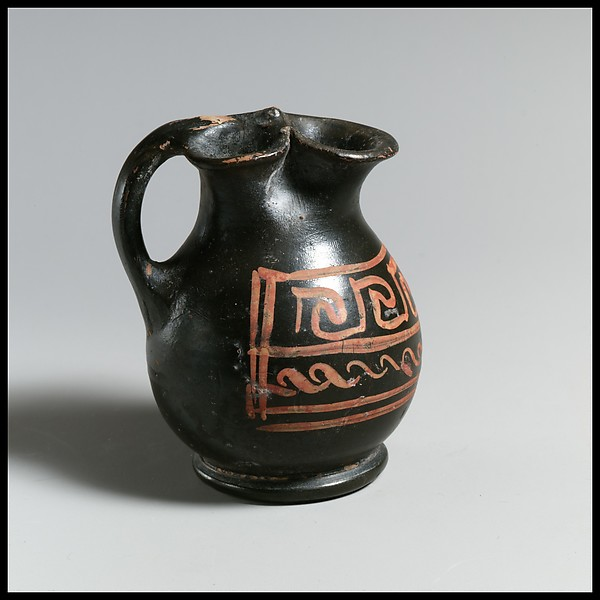 Oinochoe, Attributed to the Xenon Group, Terracotta, Greek, South Italian, Apulian