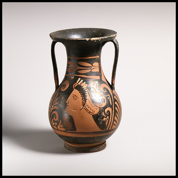 Pelike, Attributed to the Group of Zurich 2661, Terracotta, Greek, South Italian, Apulian