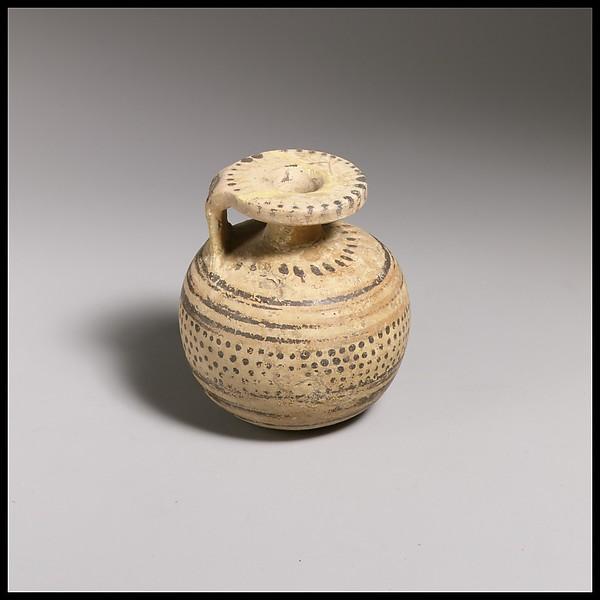 Aryballos, Terracotta, Italic, Etruria