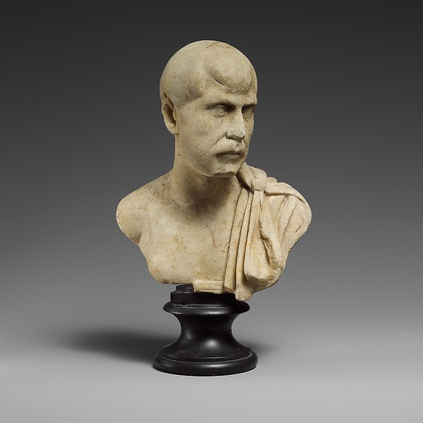 Marble bust of a man, Marble, Roman