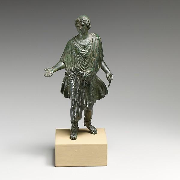 Bronze statuette of a camillus (attendant), Bronze, Roman
