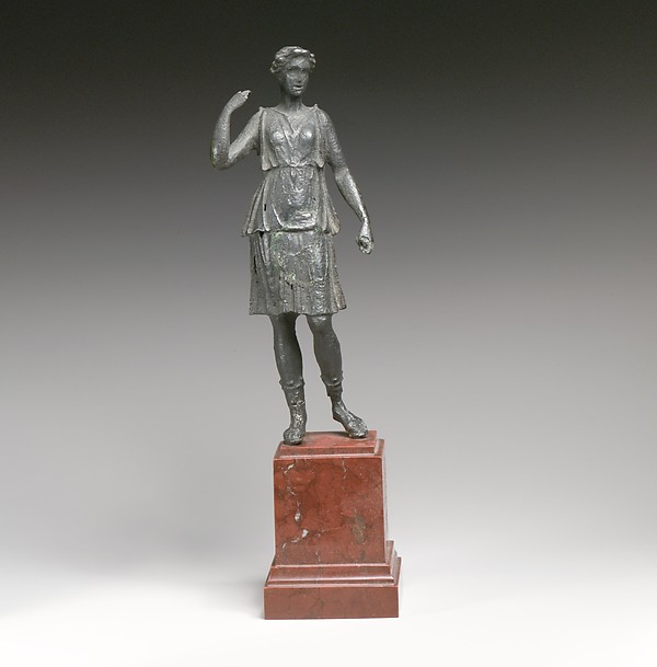 Bronze statuette of Artemis, Bronze, Greek