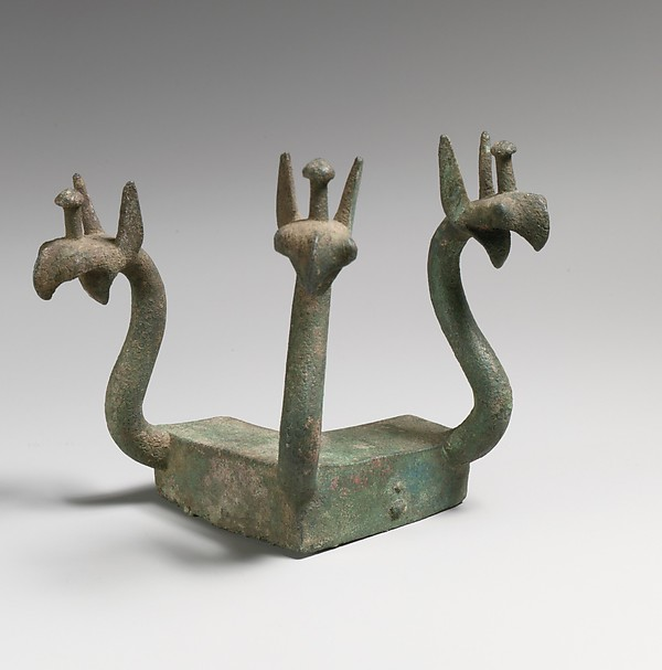 Bronze Furniture Attachment With Griffin Heads, Bronze, Etruscan