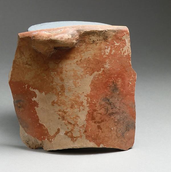 Vase fragment, Terracotta, Minoan