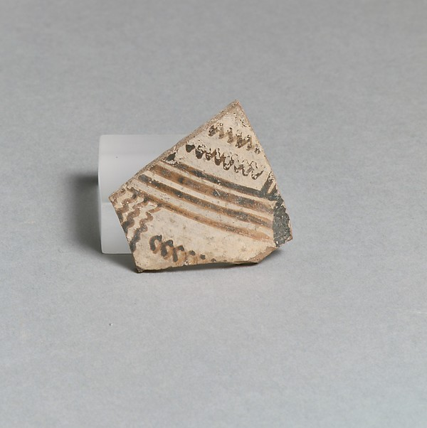 Vase fragment, Terracotta, Greek, Laconian
