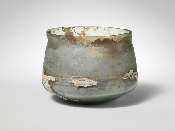 Glass cup, Glass, Roman