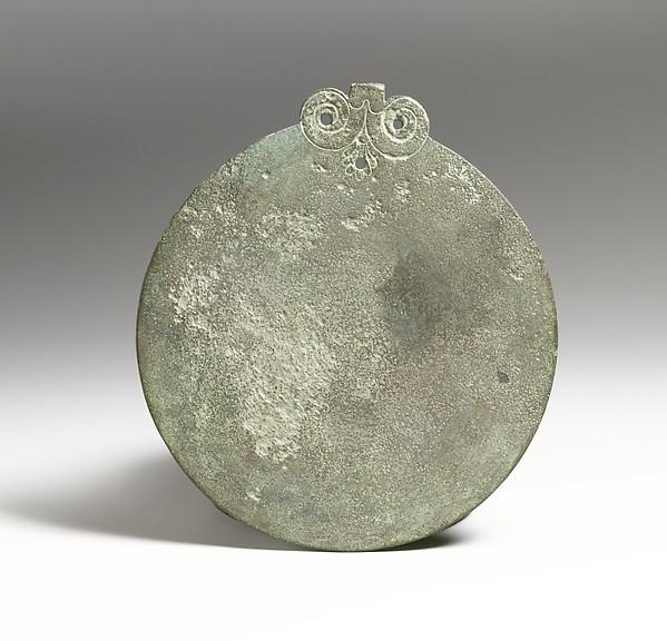 Mirror, Bronze, Greek, Cypriot