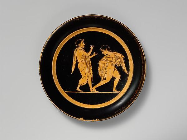Terracotta plate, Attributed to Paseas, Terracotta, Greek, Attic