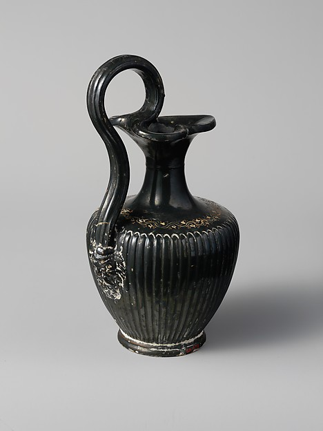 Terracotta oinochoe (jug), Attributed to the Group of Vienna O.565, Terracotta, Etruscan