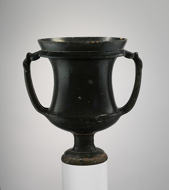 Terracotta kantharos (drinking cup), Attributed to the Group of Vatican G.116, Terracotta, Etruscan