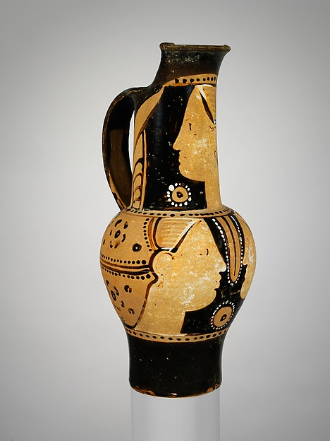 Terracotta oinochoe (jug), Attributed to the Torcop Group, Terracotta, Etruscan
