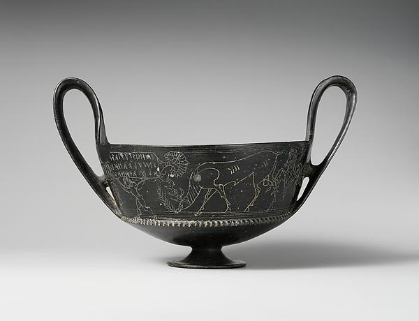 Terracotta kantharos, Terracotta, Etruscan