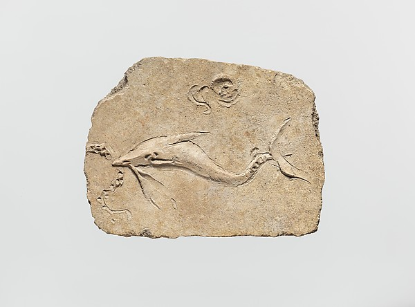 Stucco mural relief fragment, Stucco, Roman
