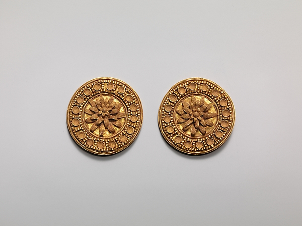 Earring disks, Gold, Etruscan
