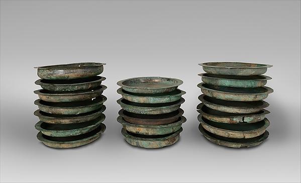 Bronze patera (salver), Bronze, Etruscan