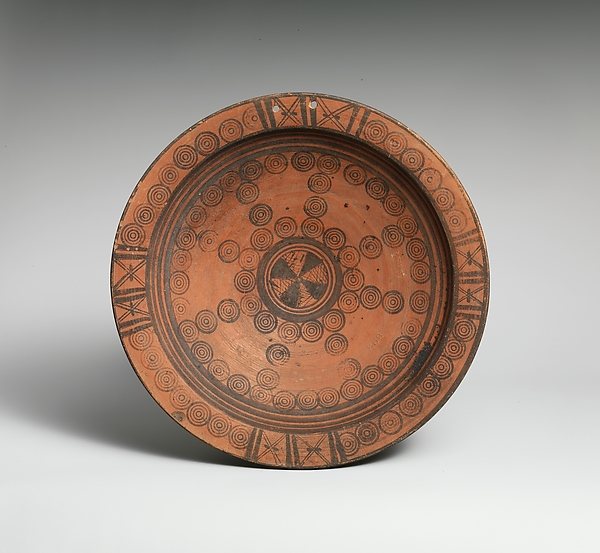 Plate, Terracotta, Cypriot