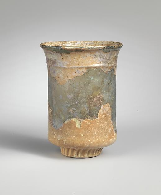Glass beaker, Glass, Roman