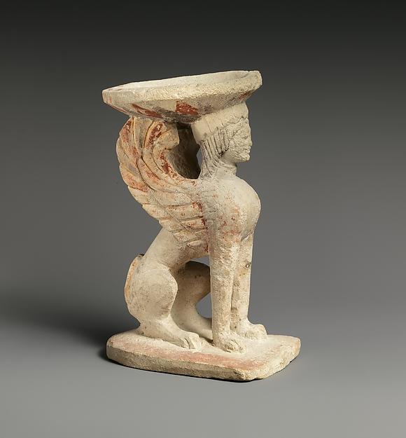 Limestone thymiaterion (incense burner), Limestone, Cypriot