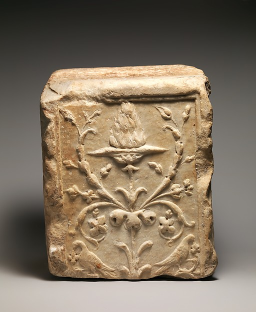 Marble fragment of a pilaster, Marble, Roman