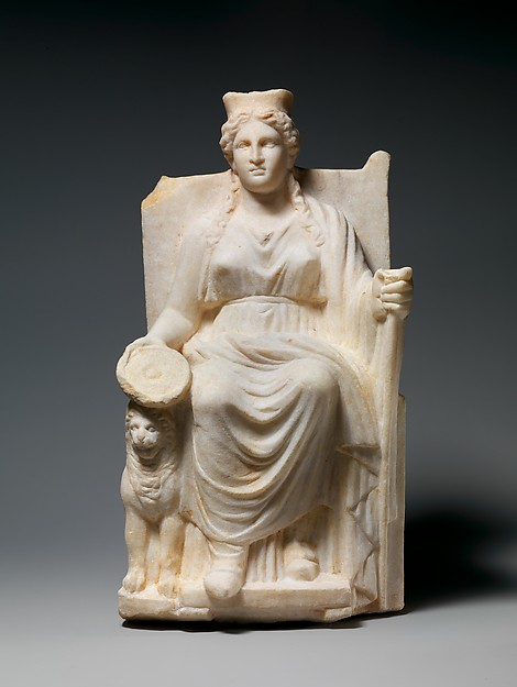 Marble statuette of Kybele, Marble, Roman