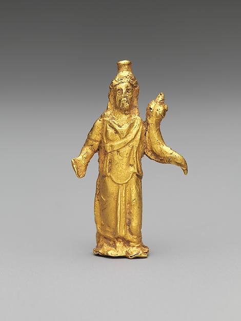 Gold statuette of Zeus Serapis, Gold, Roman