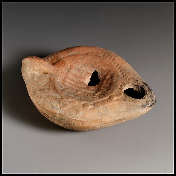 Terracotta oil lamp, Terracotta, Roman, Cypriot