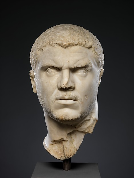 Marble portrait of the emperor Caracalla, Marble, Roman