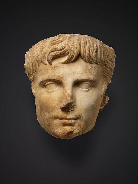 Marble portrait of the emperor Augustus, Marble, Roman