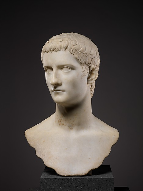 Marble portrait bust of the emperor Gaius, known as Caligula, Marble, Roman