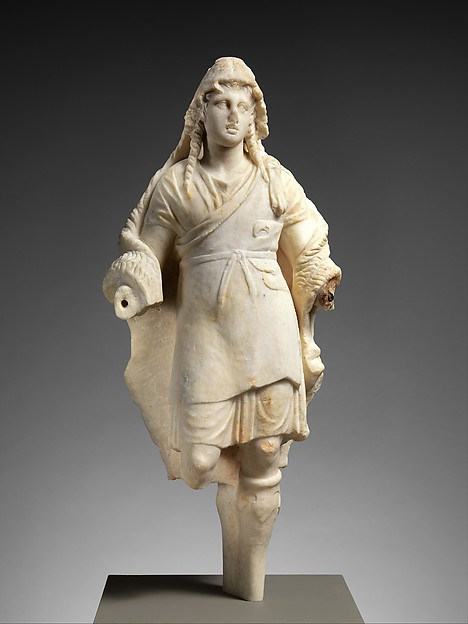 Marble statuette of Dionysos, Marble, Greek